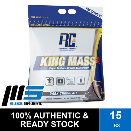 Ronnie Coleman King Mass XL, 15lbs - Whey Protein Powder, Muscle Building, Lean Muscle, Susu Gym