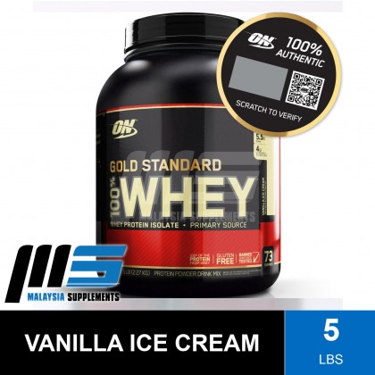 Optimum Nutrition Gold Standard 100% Whey, 5lbs - Whey Protein Powder, Muscle Building, Lean Muscle, Susu Gym