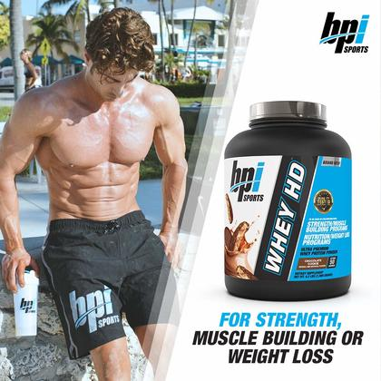 BPI Sports Whey HD, 4lbs - Whey Protein Powder, Muscle Building, Lean Muscle