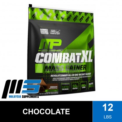 MusclePharm Combat XL Mass Gainer, 12lbs - Weight & Mass Gain, Muscle Building, Bulking & Sizing, Susu Gym