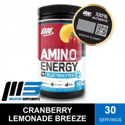 Optimum Nutrition Essential Amino Energy + Electrolytes, 30 Servings - Post Workout, Amino Acids, Glutamine, BCAAs, Instant Muscle Recovery