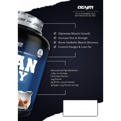 Agym Nutrition Titan Whey, 33 Servings - Protein, Halal Whey Protein Powder, Muscle Building, Lean Muscle