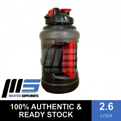 Mutant Mega Mug, 2.6L - Black [Water Bottle, Shaker, Big Volume Capacity, BPA Free]